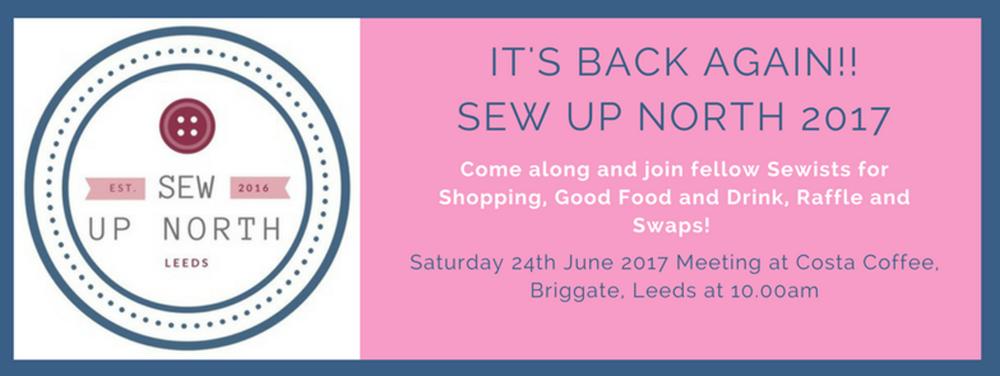 Sew up North 2017 Event Brite banner